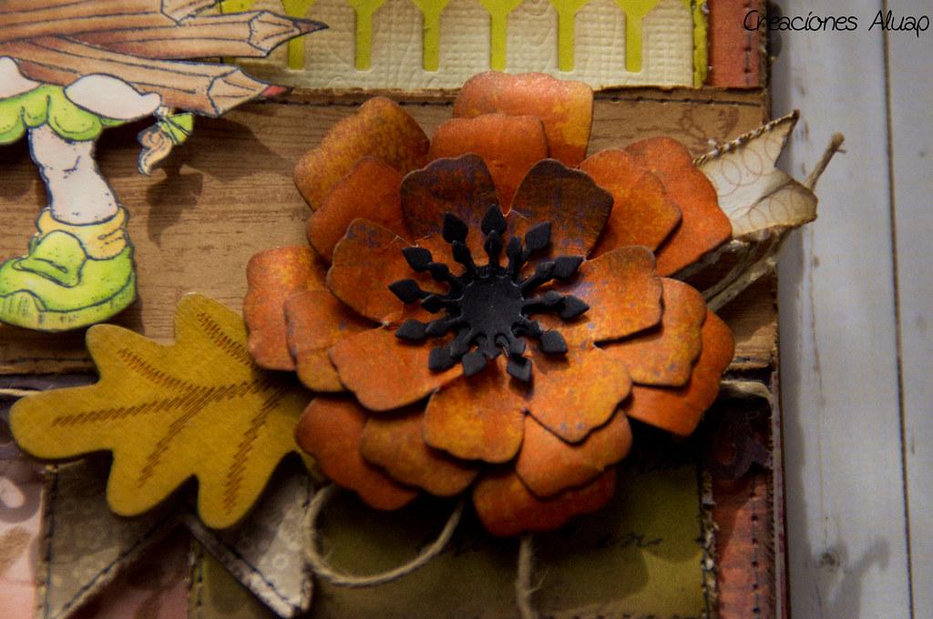 scrapbooking flower