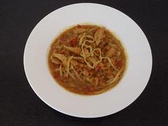 Vindaloo suppe med kylling og nudler