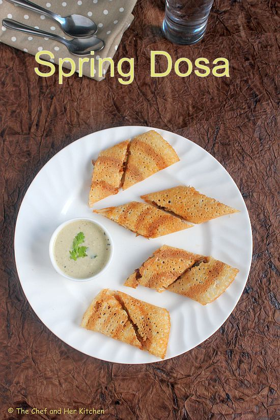 Spring Dosa Recipe | Vegetable Spring Roll Dosa