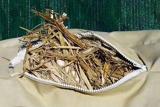 Straw Mulch Garden Seat 002