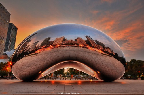 chicago sunrise bean cloudgate hdr rexmontalbanphotography