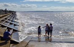 A family snap. Crosby Beach, Liverpool.