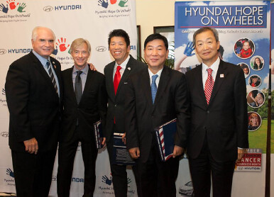 Starting from the left: Mike Kelly, John Krafcik, Mickey Pong, B.H. Lee, Ahn Ho-young   You can just credit Hyundai Hope On Wheels for the images