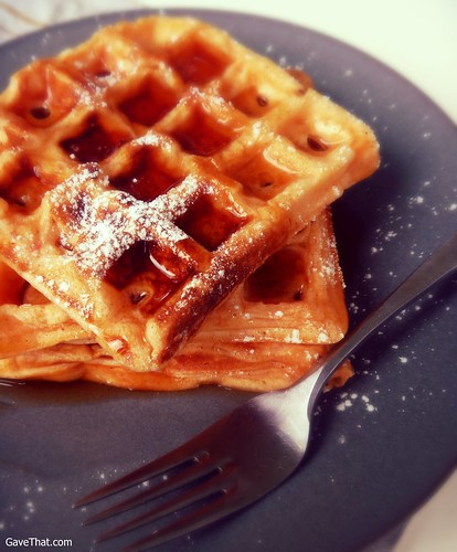 Cream Cheese Pumpkin Waffles Recipe by Gift Style Blog Gave That