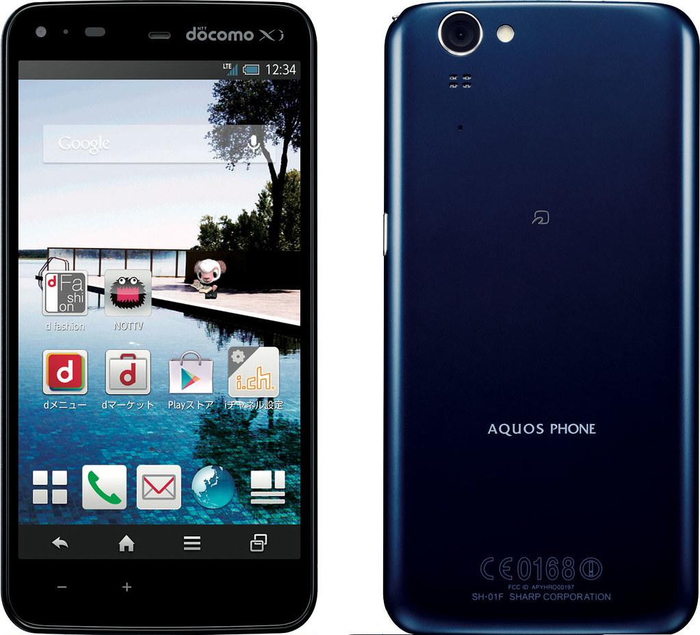 AQUOS PHONE ZETA SH-01F 実物大の製品画像