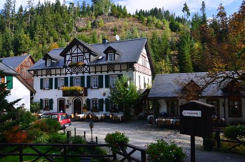 Im Tal gibt es ein freundliches Restaurant