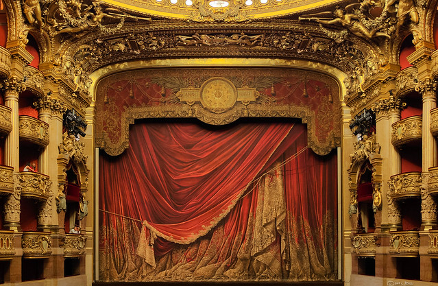 Main stage of the Palais Garnier, Paris