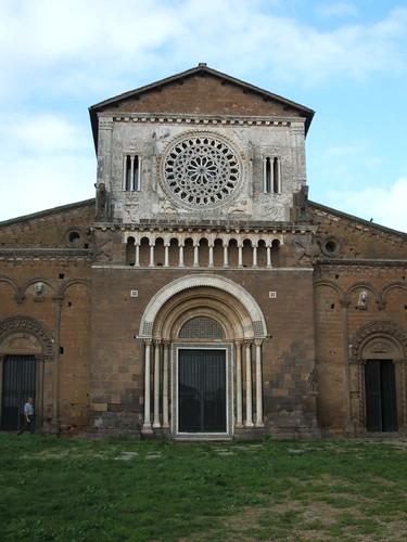 Tuscania - Fassade der Kirche von San Pietro