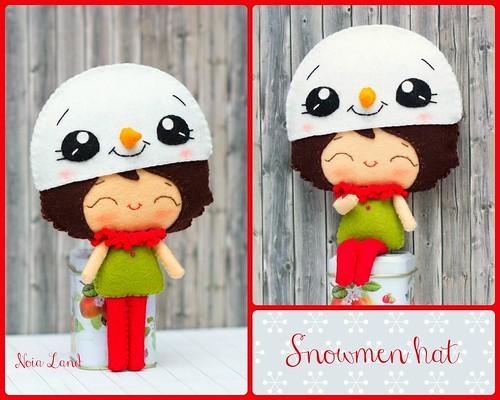 Gorrito muñeco de nieve