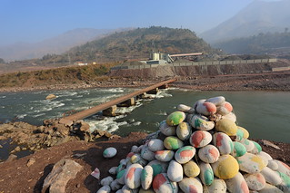Jhelum River colourful rocks, Kashmir