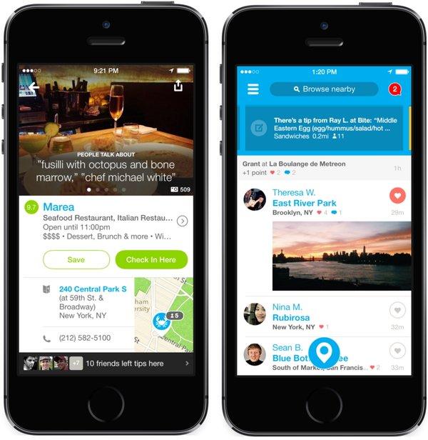 Foursquare для iOS 7