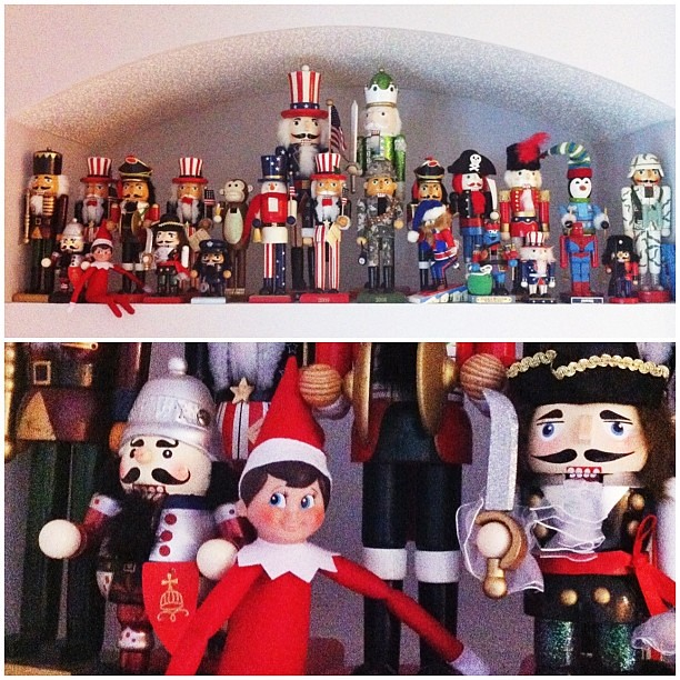 Snowflake made a bunch of new friends last night. :: #jbelfontheshelf #elfontheshelf #elftakeover