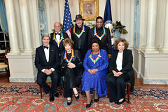 Secretary Kerry and Teresa Heinz-Kerry Meets With the Kennedy Center Honor Award Recipients