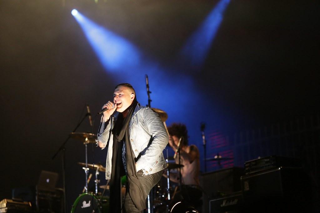 Fernando Ruiz Díaz, vocalista del grupo Catupecu Machu, durante su presentación en el tercer y último día del festival. (Tetsu Espósito)