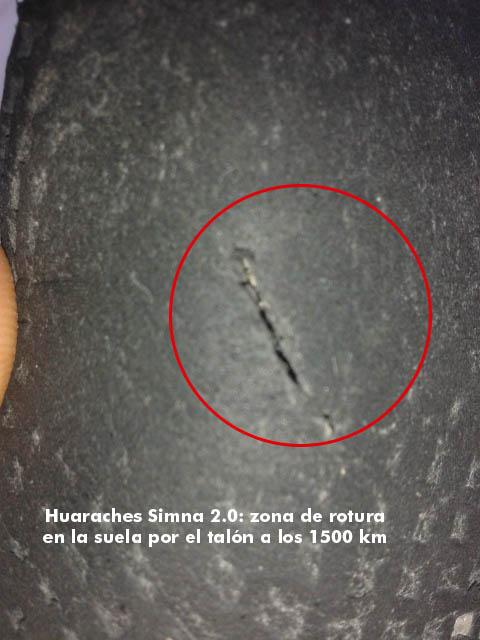 Sandalias Huaraches Pies Sucios Simna 2.0. Análisis a los 1.500 km.