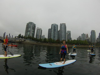 Paddleboarding for Alicia's Birthday 2013
