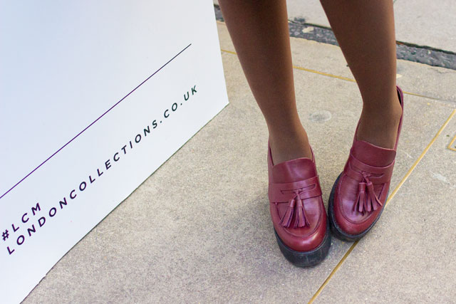 Office Leader of The pack heeled burgundy loafers