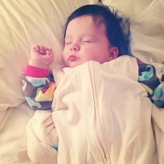 Sweetly sleeping.