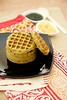 Thumbnail image for Moong Dal Waffles/Green Gram Waffles With Green and Red Chutney