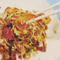 Happiness is getting a familiar taste of 'home' after a crazy week and before a weekend abroad. This for me is always a favourite stop of mine to grab some tasty Penang-styled Char Kway Teow before I fly off from T3. Now I can happily fly through the ni