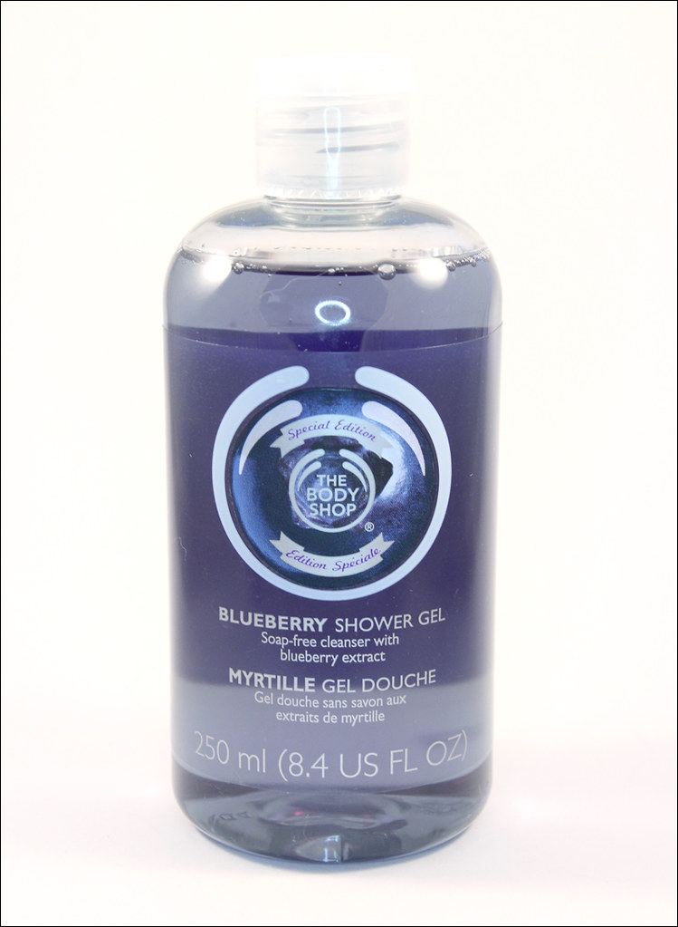 TBS blueberry special edition shower gel