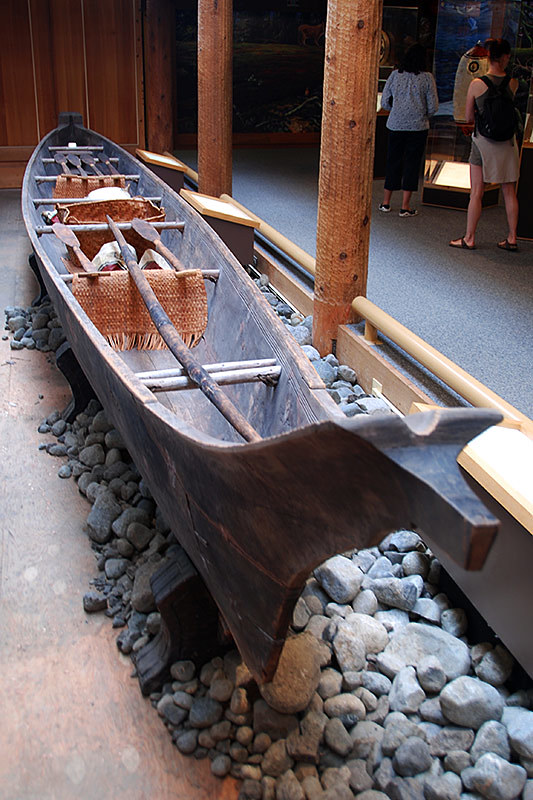Whaling Canoe, Kwisitis Visitor Centre, Long Beach, Tofino, West Coast Vancouver Island, British Columbia