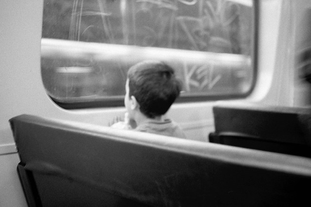 Boy on Train