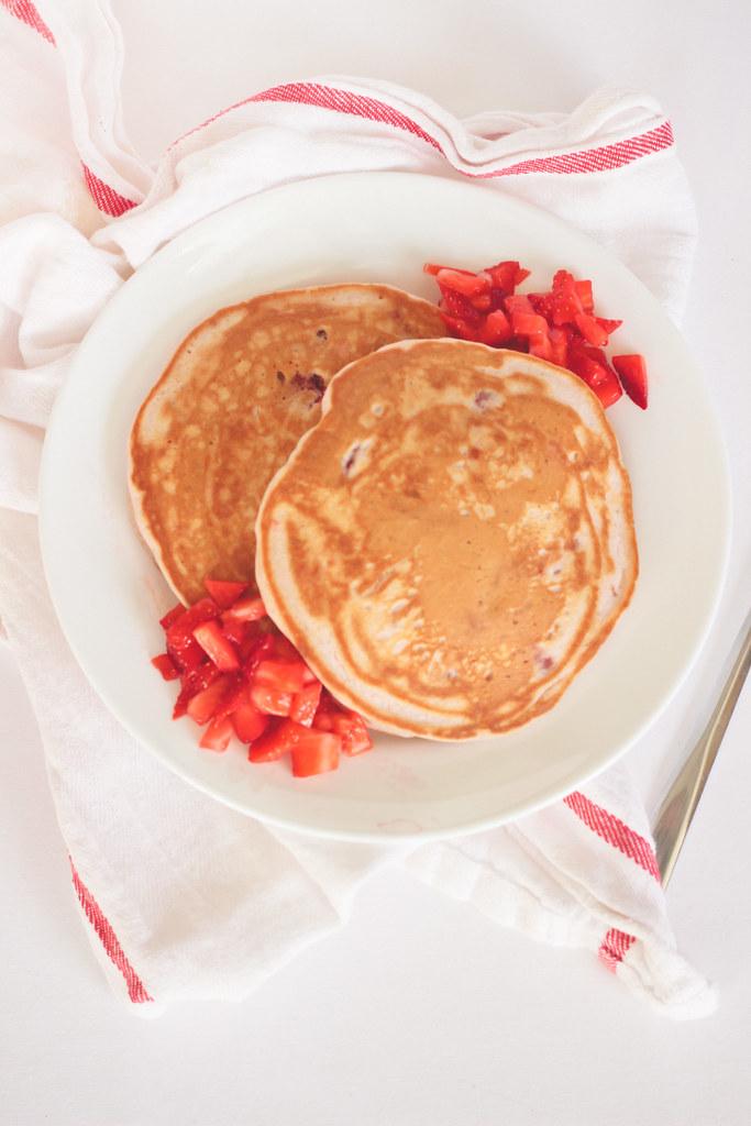 pink berry pancakes