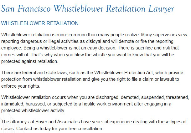 San Francisco CA Labor Attorney - Hoyer & Associates (415