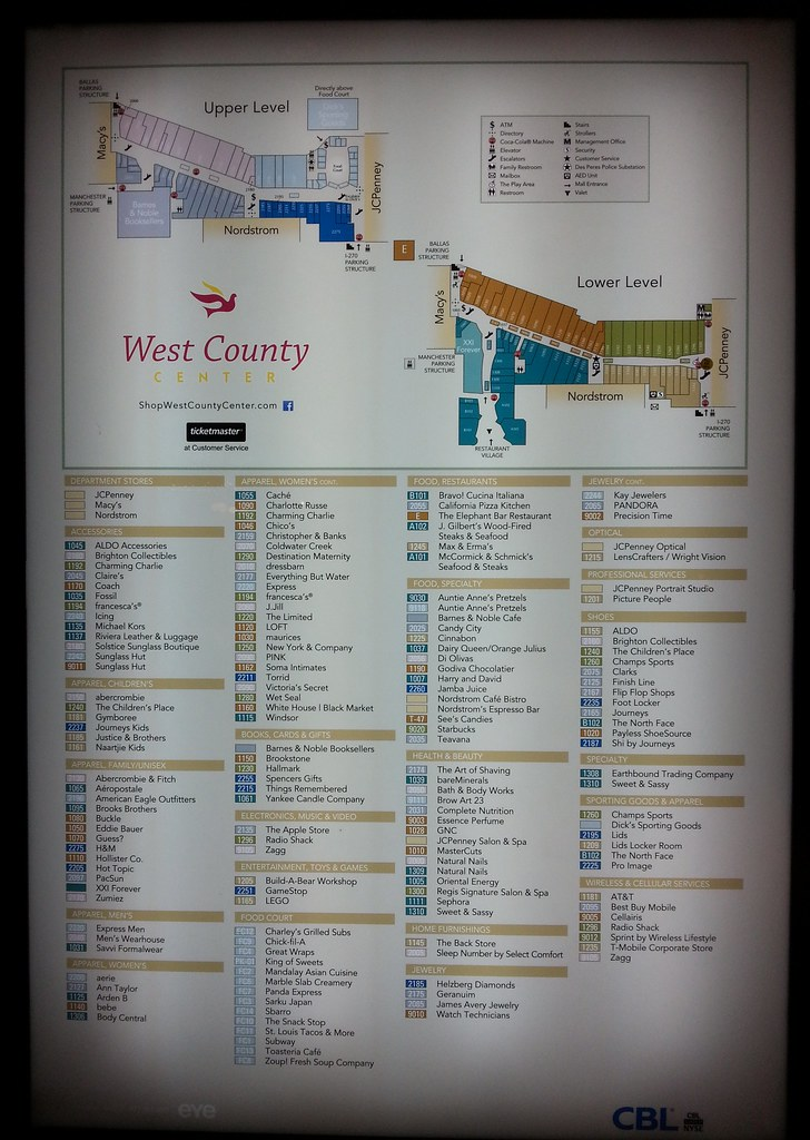 West County Mall Map Interesting Flickr photos tagged westcountymall | Picssr