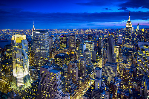 From the Top of the Rock... Manhattan Island at night, New York