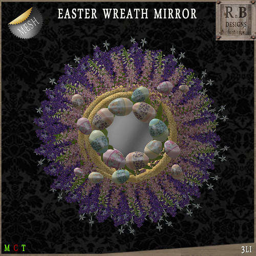 PROMO 60L ! *RnB* Mesh Easter Wreath Mirror