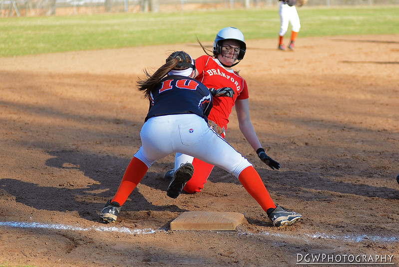 Shelton High vs. Branford high Girls Softball