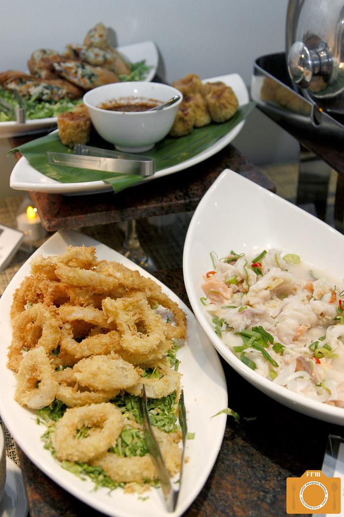 B Hotel Onion Rings and Seafood Savichi