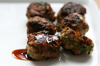 Turkey meatballs with soy-ginger glaze