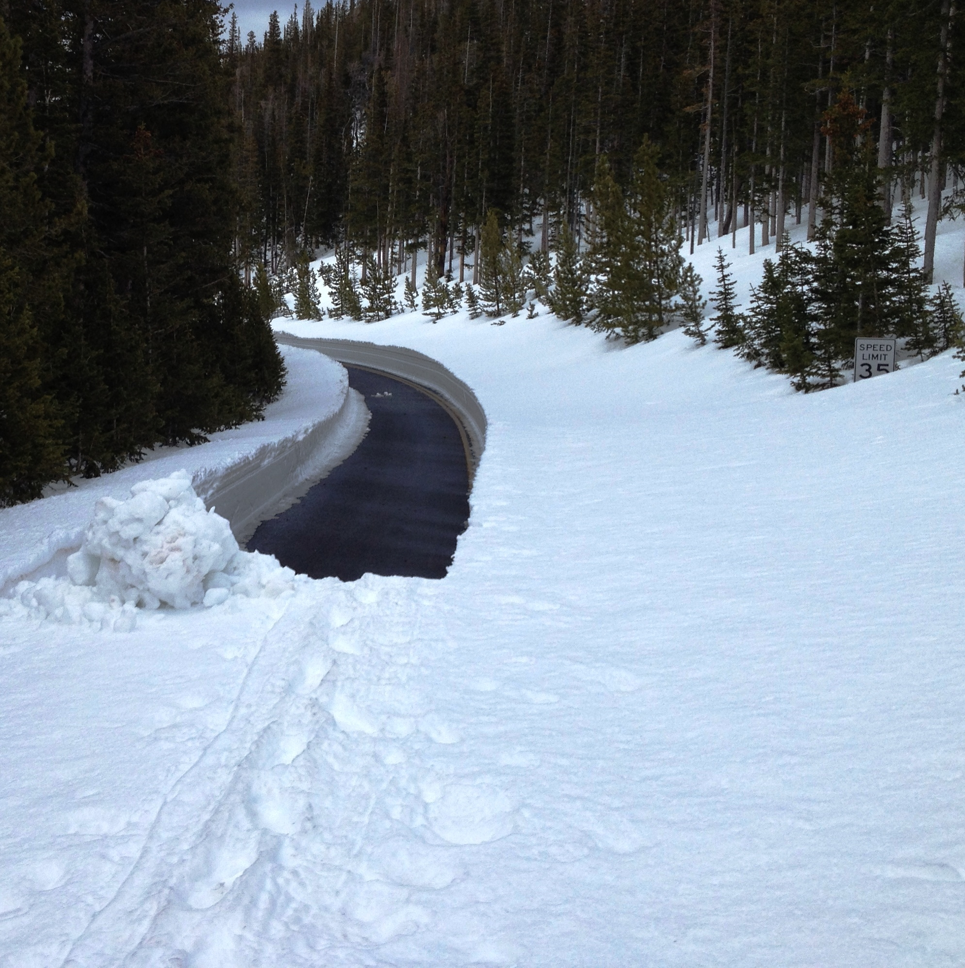Trail Ridge Road, plowed