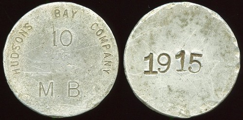 Hudson's Bay Company token stamped 1915
