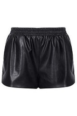 Topshop-Black-Faux-Leather-Shorts