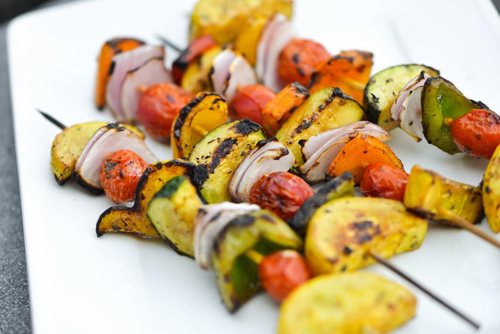 Balsamic Marinated Vegetable Skewers