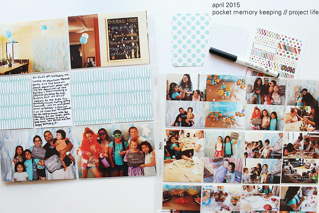 april 2015 :: pocket memory keeping // project life