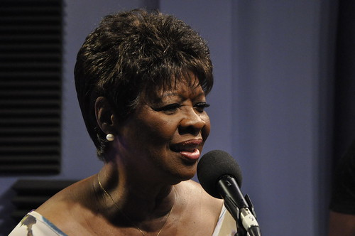 Irma Thomas performing with Danny Abel Band. Photo by Leona Strassberg Steiner