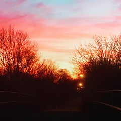 Stunning Milton Keynes sky this morning makes the walk home worthwhile #sunrise #landscape #mk50 #miltonkeynes