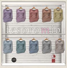 *tesoromio* pullover Vneck colors