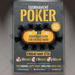 Poker Tournament - Premium Flyer PSD Template