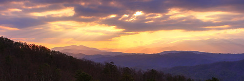 sunrise dawn morning weather clouds tennessee great smoky mountains national park foothills parkway hdr