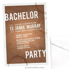 Get the boys ready for a wild night and help the groom wave goodbye to his single days. This invitation is fun with a rugged edge inciting a wild night of adventures #bachelorparty #groom #gettingmarried #wildnight