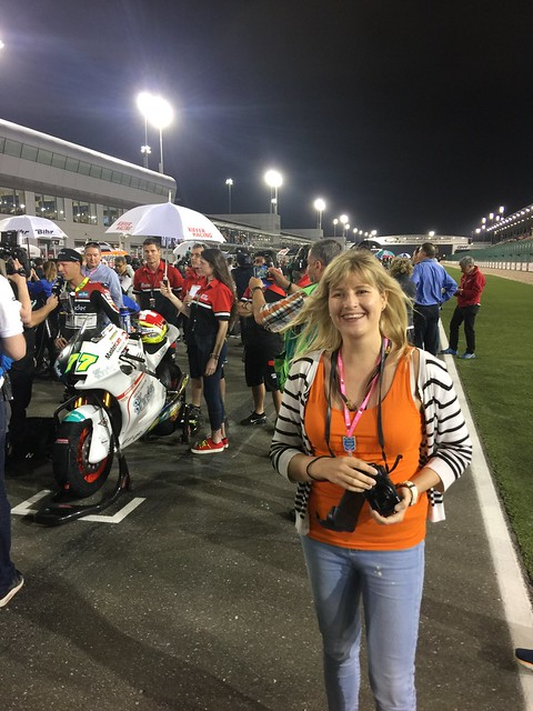 Elizabeth gets present of Moto2 grid pass from Mum