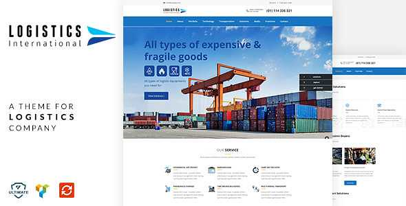 Logistics WordPress Theme free download