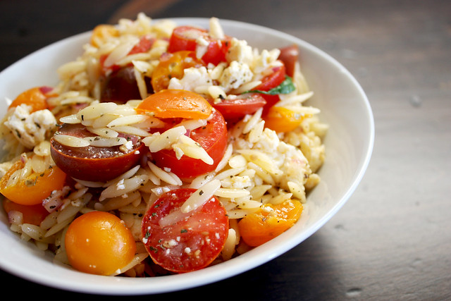 Heirloom Tomato Orzo Salad