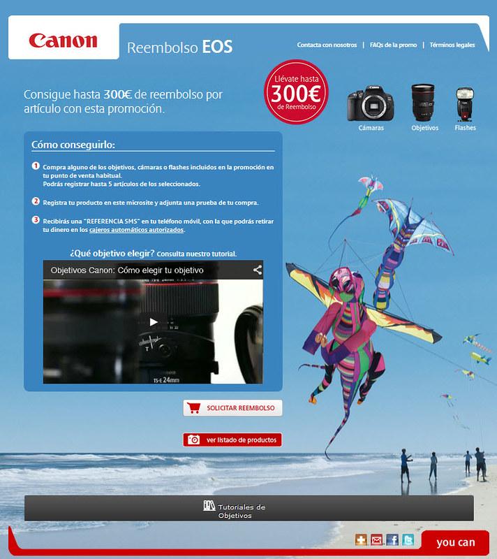 Consigue hasta 300€ de reembolso al comprar tu material de fotografía Canon EOS